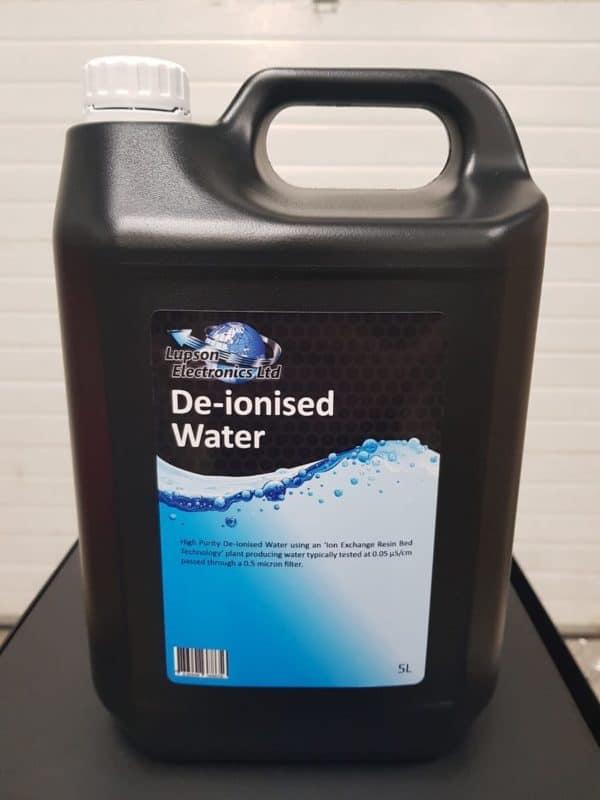 De-ionised water Lupson Electronics